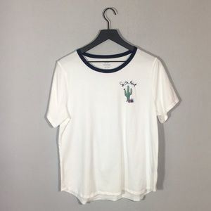 Old Navy Ring Neck Graphic Tee w/ Cactus